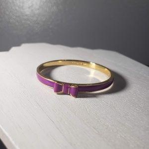 """kate spade """"Take A Bow"""" Purple Enamel Bracelet"""